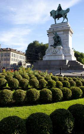 garibaldi: Garibaldi monument, Milano - Italy Stock Photo