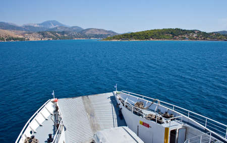 View of a Ferry boat - Kefalonia sea photo