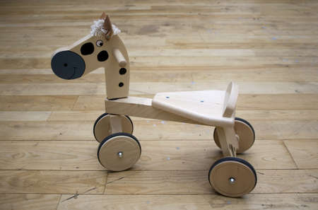 Wooden horse toy photo