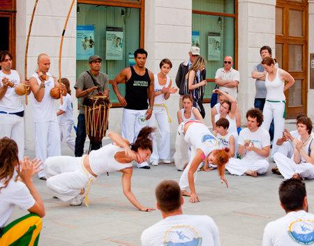 Capoeira Performance in der Stadt Triest - Italien