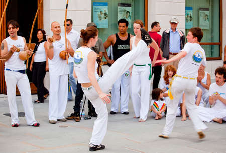 Capoeira performance in the city of Trieste - Italy
