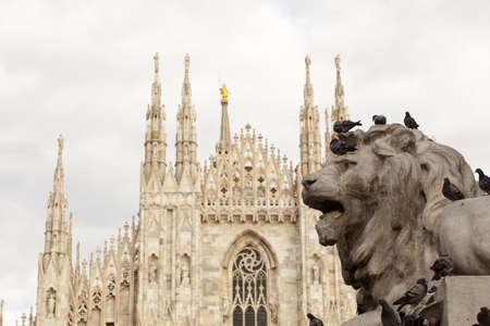 nobleman: Lion of Vittorio Emanuele II monument in Milan