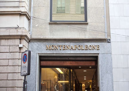 Via Monte Napoleone, street in Milan center for fashion and luxury, Italy