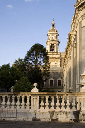 Bell tower, Catania cathedral - Italy photo