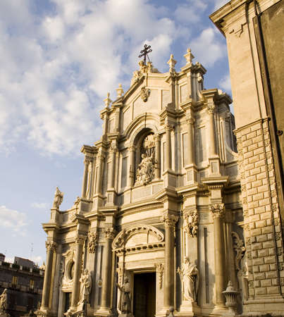 View of Catania cathedral, Italy photo