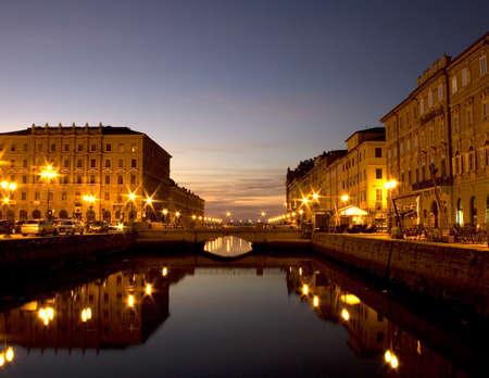 trieste: Ponte rosso, Trieste Stock Photo