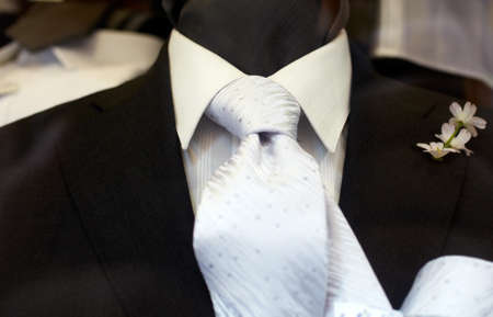 man made: Chic and stylish suit for elegant man  Stock Photo