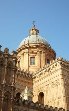 santa rosalia: Dome of the Cathedral of Vergine Maria Santissima Assunta in cielo, Palermo - Italy Stock Photo