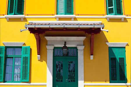 trieste: Yellow house in Trieste