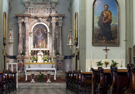 trieste: Interior of a Trieste church