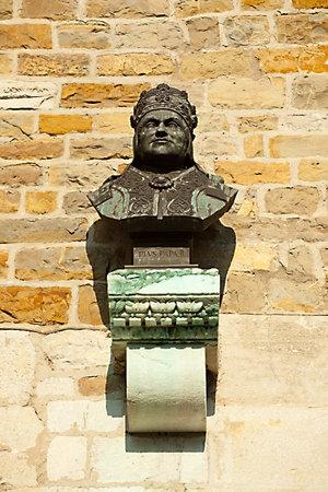 pio: Bust of Pio pope, St. Giusto church in Trieste Editorial
