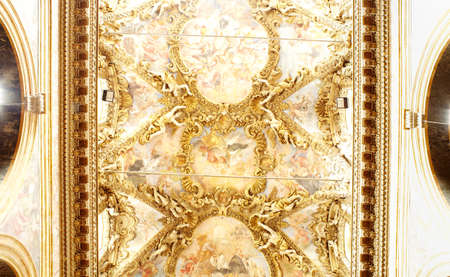 frescoed: Frescoed ceiling, Palermo cathedral - Itly