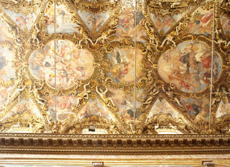 frescoed: Frescoed ceiling, Palermo cathedral - Italy