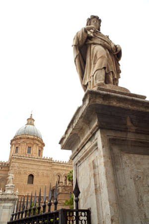 santa rosalia: Statue of Santa Rosalia next to the cathedral, Palermo