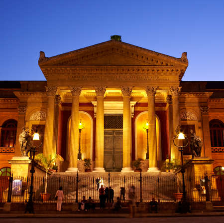 Teatro Massimo, opera house in Palermo - Italy Editorial