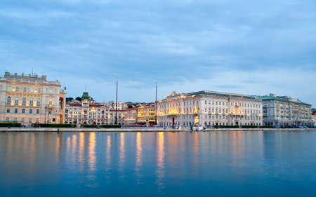 trieste: Piazza unit,Trieste - Italy Stock Photo