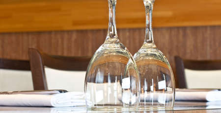 Two glasses on the restaurant table Stock Photo - 11634157
