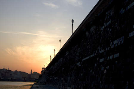 oxbow: View of Florence at sunset, Italy
