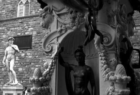 Perseus monument and david di michelangelo, Florence photo