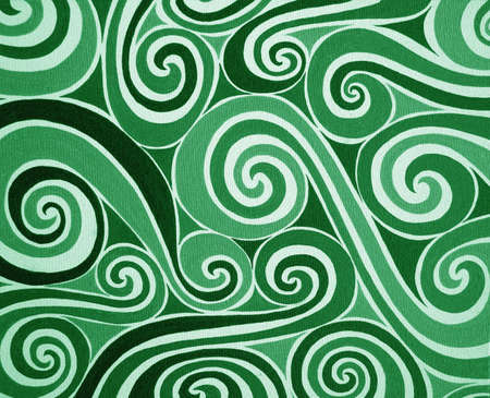 brillant: Background with green and white spiral Stock Photo