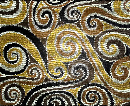 brillant: Background with beige and brown spirals