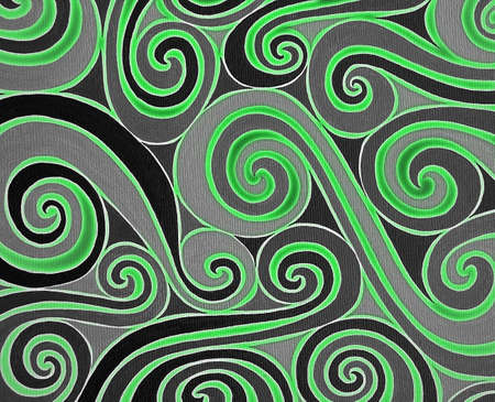 brillant: Background with green and black spiral Stock Photo