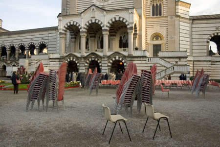 monumental: Plastic Chairs, Monumental cemetary in Milan