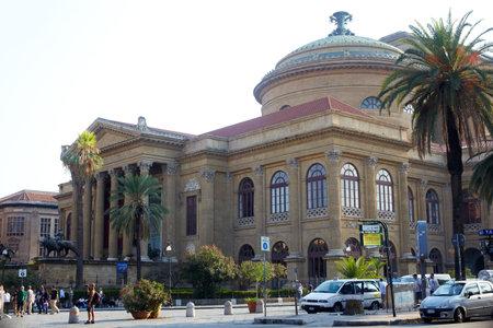 palermo   italy: Teatro Massimo, opera house in Palermo - Italy Editorial