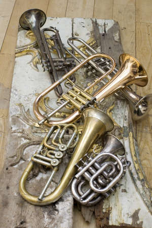 fanfare: Trumpets on pieces of antique furniture