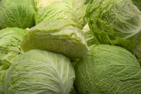 head of cauliflower: Cabbage Stock Photo