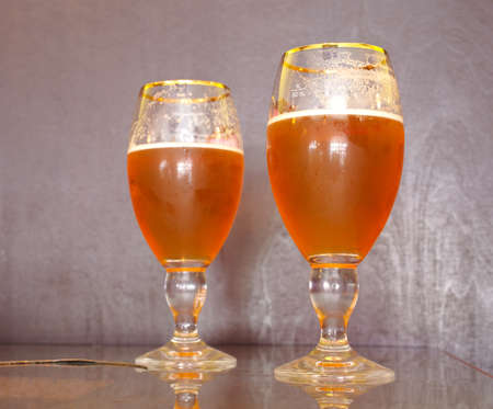 Two glass of fresh beer photo
