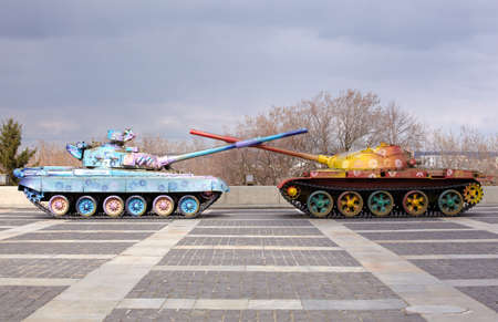 Hippy tanks in Kiev, Museum of the Great Patriotic War - Ukraine