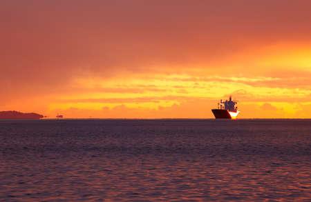 Ship on the sea, Trieste photo