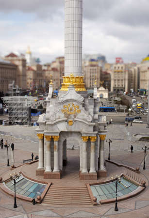 maidan: Column in Independence Square or Maidan Square, Kiev