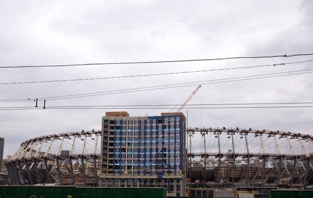 Stadium under construction in Kiev, Ukraine,