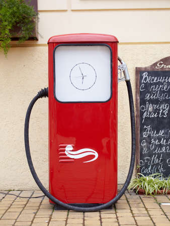Photo of a Red petrol pump