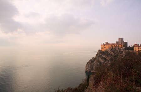trieste: View of Duino castle near Trieste, Italy