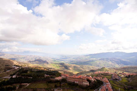 hospitalization: View of the Oasi di Troina Institute of hospitalization in Troina, Sicily - Italy