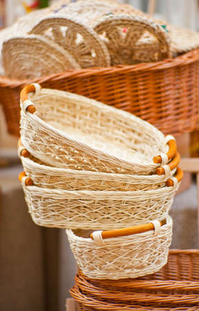 Photo of a lot of Wicker baskets photo