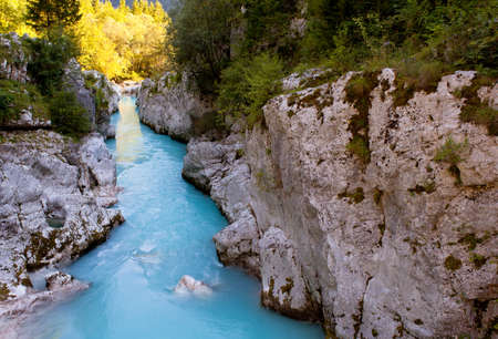 View of Slovenian Soca river in the summer Stock Photo - 13602852