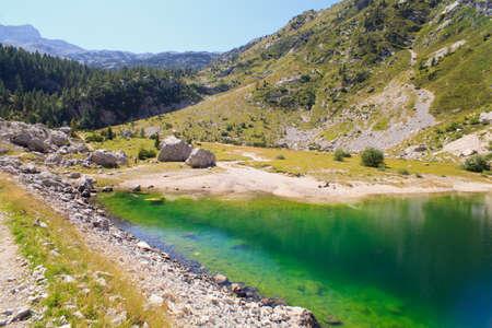 View of krnsko lake in the summer, Slovenia - Europe photo