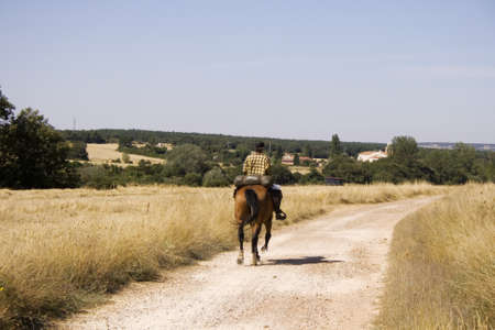 Ride in the spanish countryside, Way of St. James Stock Photo - 14137715