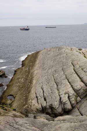 santander: Santander sea, Cliff in the Cantabrian Sea Stock Photo