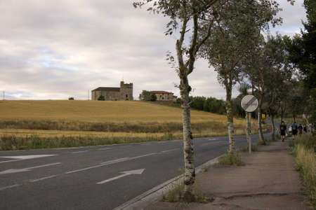 Road in the spanish countryside, way of St. James photo