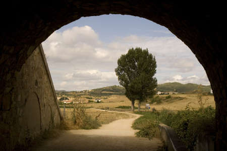 way of st  james: Road in the spanish countryside, way of St. James