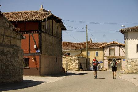 pilgrim journey: Pilgrims in the town, Way of St  James Editorial