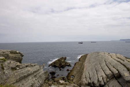cantabrian: Santander sea, Cliff in the Cantabrian Sea Stock Photo