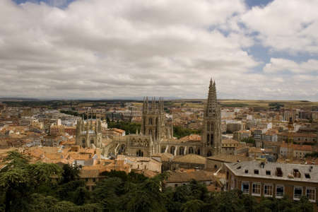 Top view of Burgos, Famous Spanish city