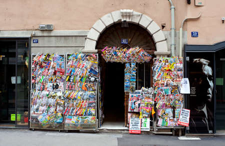 View of Newsstand in Trieste - Italy
