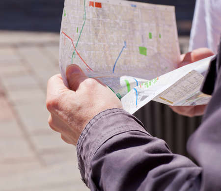 Photo of tourist with map in Milan photo